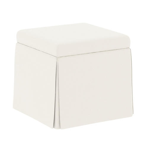 Anne Skirted Storage Ottoman