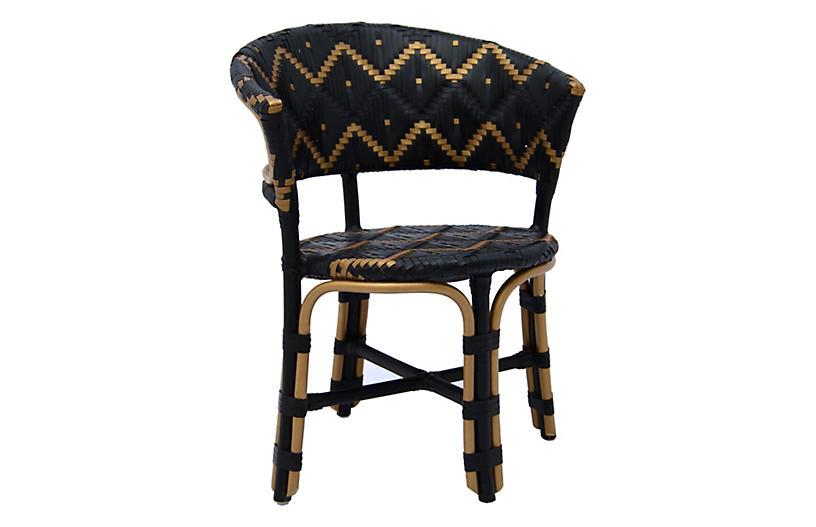 Pinnacles Occasional Chair, Black/Natural