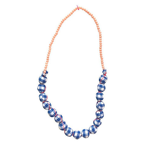 True Beaded Necklace, Blue