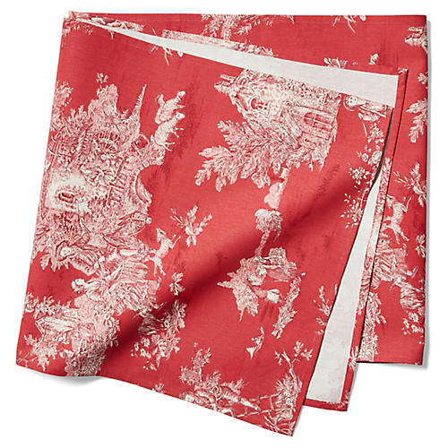 Indiennes Table Runner, Cherry