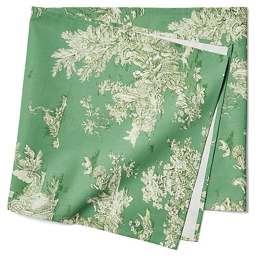 Indiennes Table Runner, Pomme Green