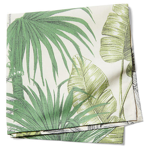 S/2 Indiennes Dinner Napkins, Island Green
