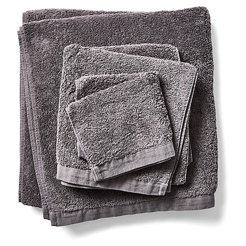 3-Pc Riviera Towels, Coal