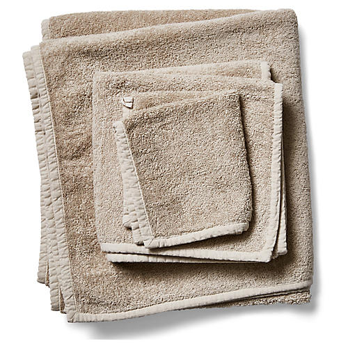 3-Pc Bliss Towels, Ecru