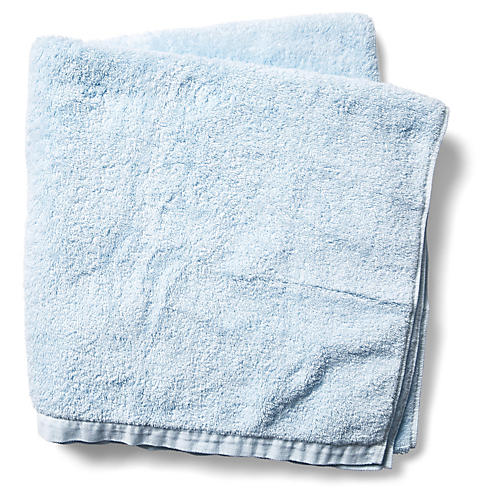 Riviera Bath Sheet, Misty Blue