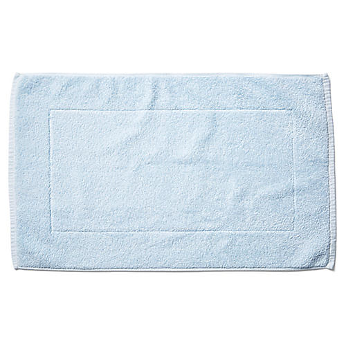 Riviera Bath Mat, Misty Blue