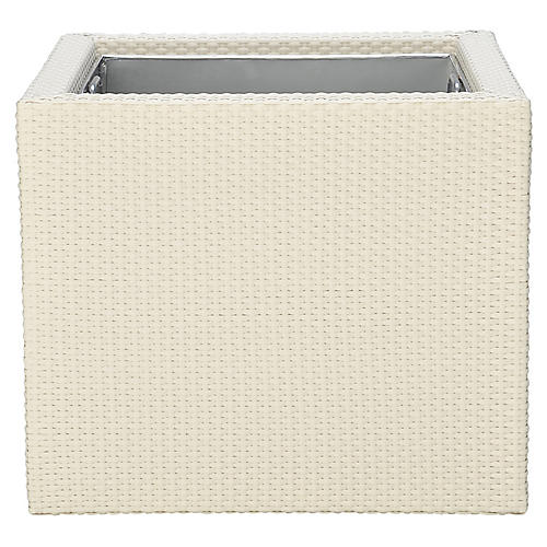 "21"" JANUSfiber Short Outdoor Planter, Limestone"