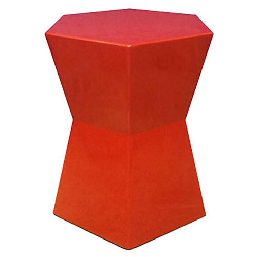 Facet Outdoor Side Table, Persimmon