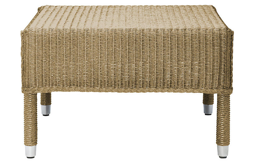 Deauville Outdoor Ottoman, Natural