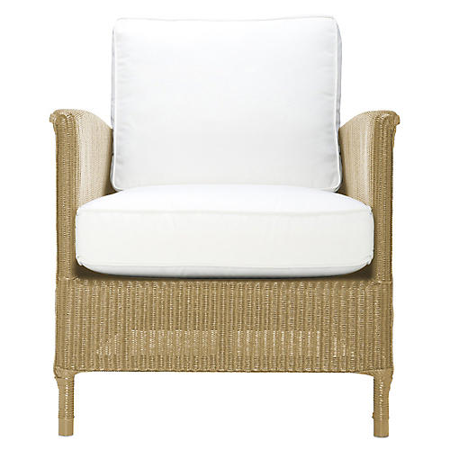 Deauville Outdoor Lounge Chair, Whitewash