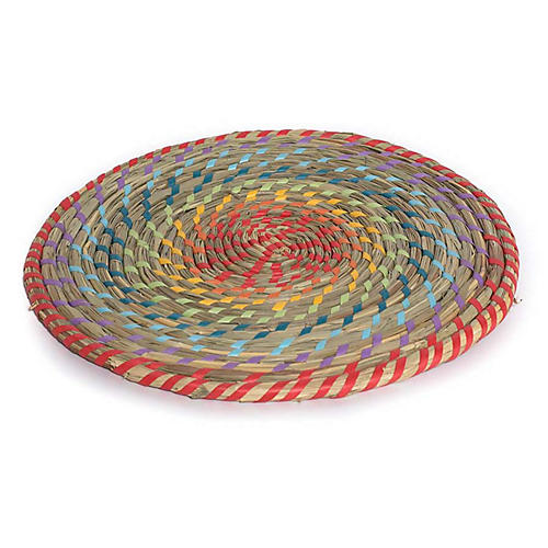 Rainbow Place Mat, Natural/Multi