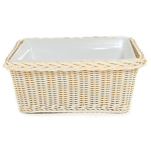 Cold Buffet Square Serving Dish, Wheat