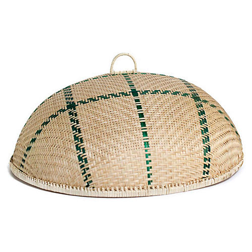 Buzzing Serving Dish Cover, Blonde/Green