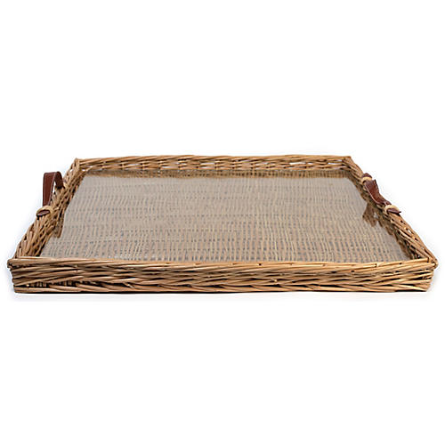 Island Decorative Tray, Natural/Tan