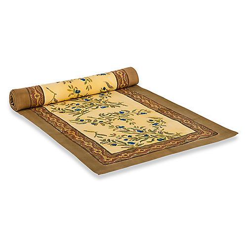 Olive Tree Table Runner, Gold/Multi