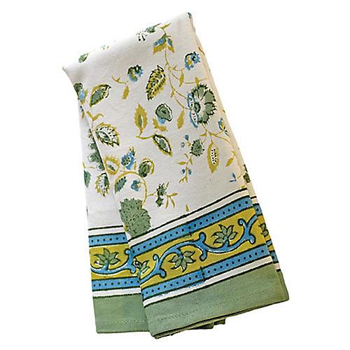 S/3 Joy Tea Towels, Green/Multi