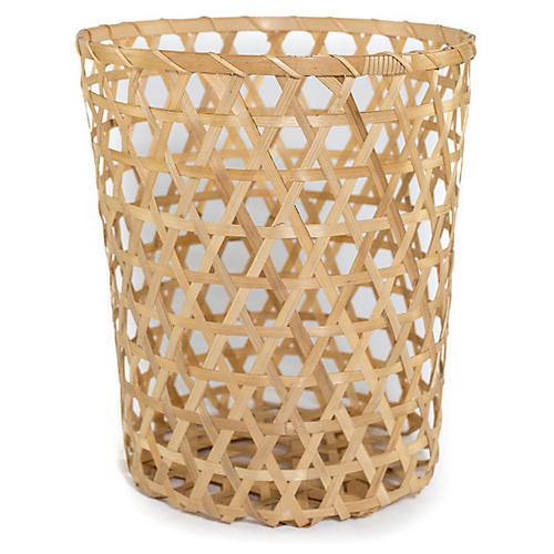 Open Cane Planter, Natural