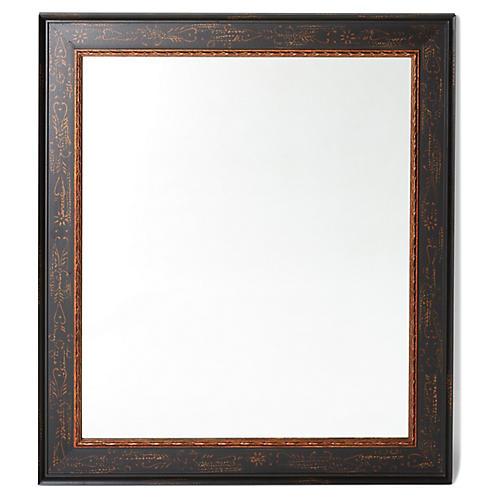Geri Wall Mirror, Black/Gold