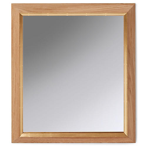 Dray Wall Mirror, Raw Oak/Gild