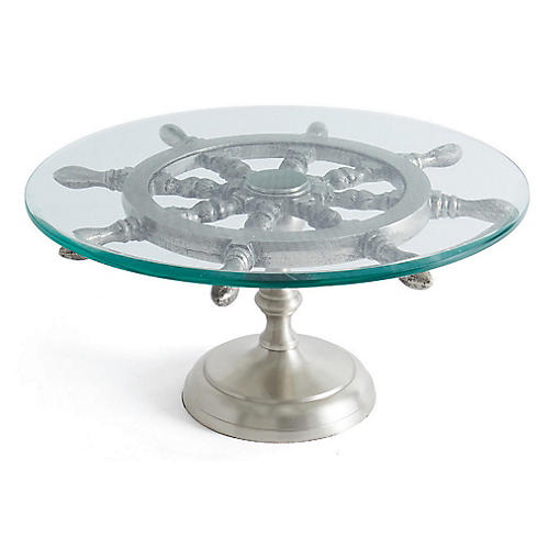 Sailor Cake Stand, Clear/Silver
