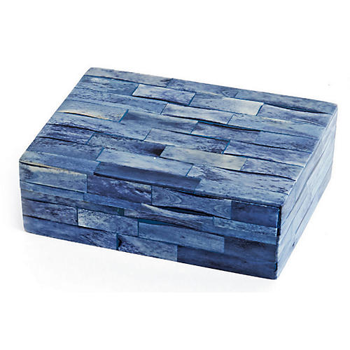 "6"" Hutson Decorative Box, Sea Blue"