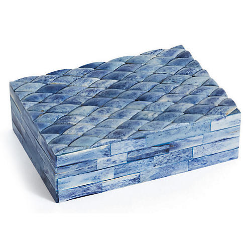 "7"" Montell Decorative Box, Sea Blue"