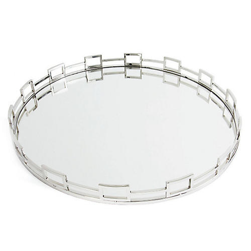 "27"" Jackson Decorative Tray, Silver"