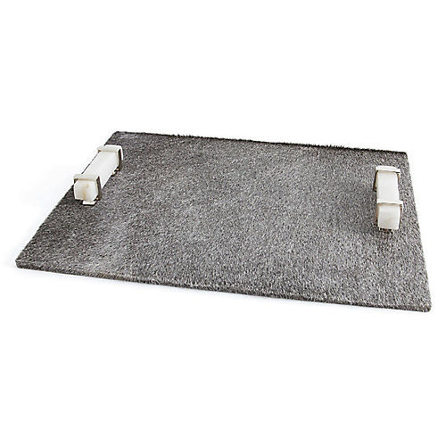 "24"" Rian Decorative Tray, Gray"