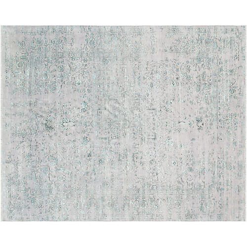 8'x10' Serapi Hand-Knotted Rug, Green