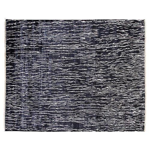 8'x10' Modern Rug, Black/White