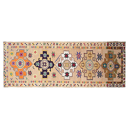 "3'3""x8'8"" Turkish Hand-Knotted Runner, Sand"