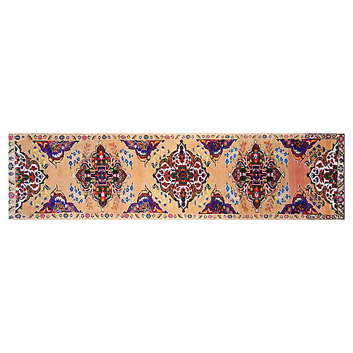 "3'1""x12'6"" Turkish Hand-Knotted Runner, Tan"