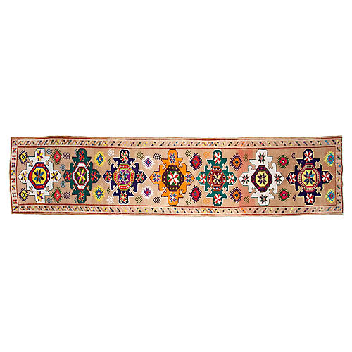 "3'x12'8"" Turkish Hand-Knotted Runner, Tawny"