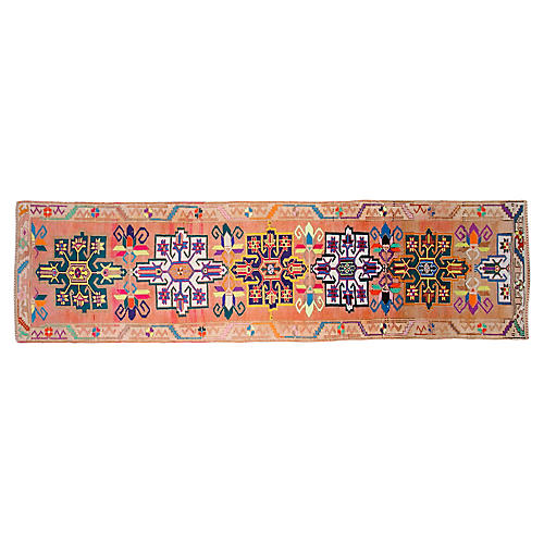 "3'3""x12'2"" Turkish Hand-Knotted Runner, Taupe"