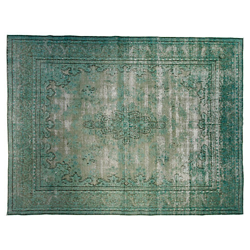 """9'9""""x12'10"""" Mason Hand-Knotted Rug, Green"""