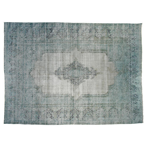 "9'9""x12'10"" Arthur Hand-Knotted Rug, Teal"
