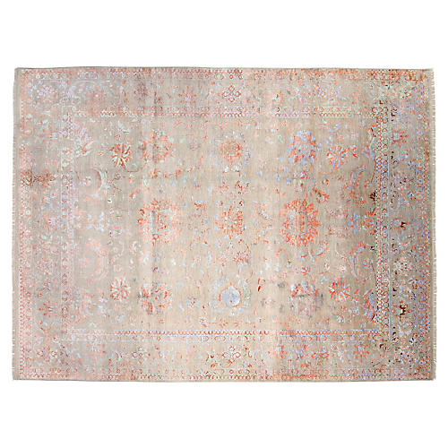 9'x12' Fashion Hand-Knotted Rug, Gray