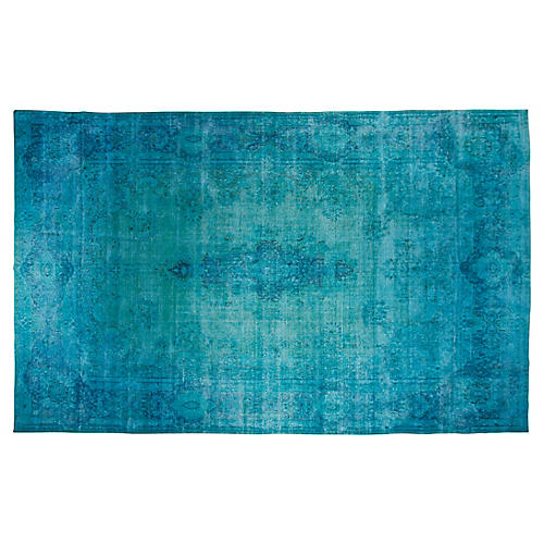 "9'9""x16"" Tillery Hand-Knotted Rug, Teal"
