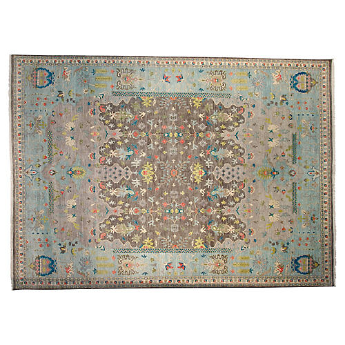 10'x14' Paya Hand-Knotted Rug, Gray
