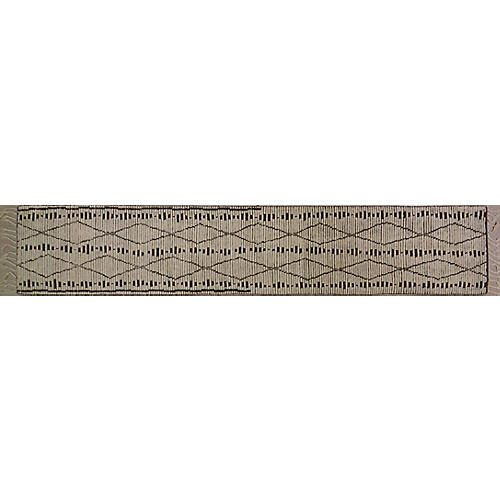 "2'7""x13'10"" Moroccan Runner, Ivory"
