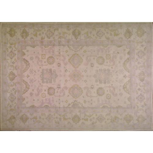 10'x14' Bankalar Oushak Rug, Ivory/Lavender