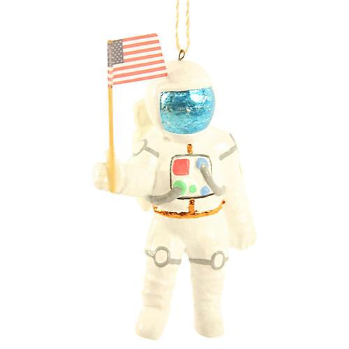 Astronaut Ornament, White/Multi