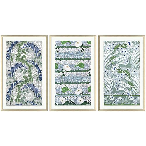 Vintage Pattern 1-3 Triptych