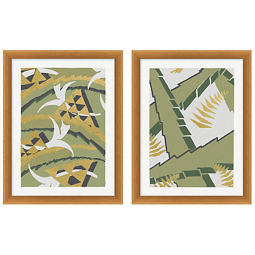 Gilded Pattern 1-2 Diptych