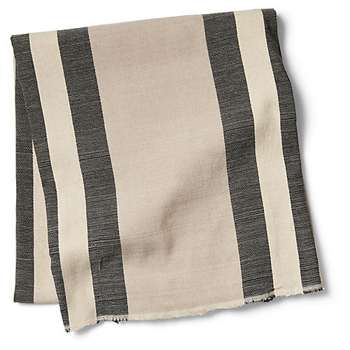 Chillmark Striped Beach Blanket, Black