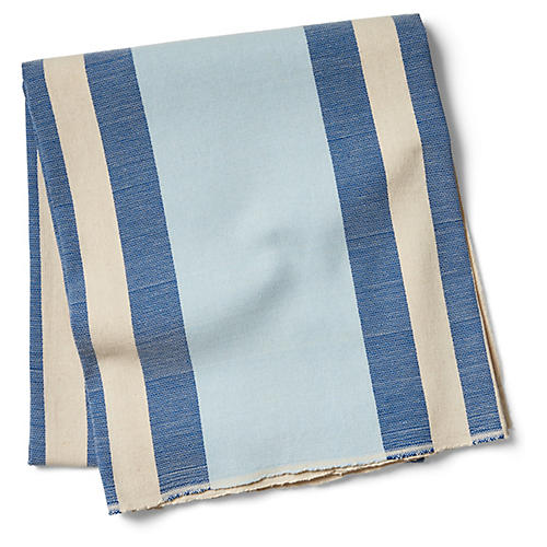 Chillmark Striped Beach Blanket, Blue