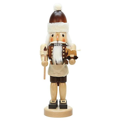 Santa Painting Nutcracker, Natural