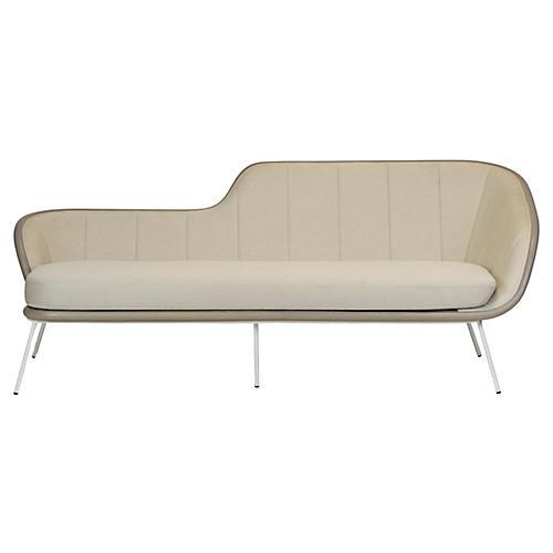 Bend Sofa, Gray Linen