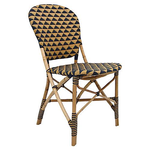 Pinnacles Side Chair, Natural/Black
