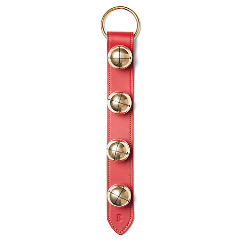 Navidad Wide-Stitched Bells, Red